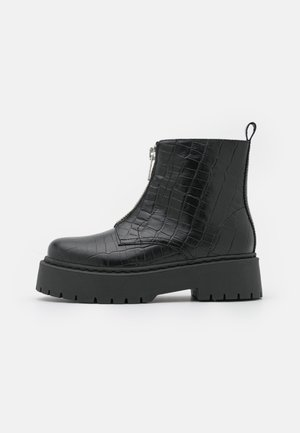 WIDE FIT BIADEB ZIP BOOT  - Platform ankle boots - black
