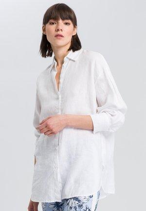 LEINENBLUSE - Button-down blouse - white