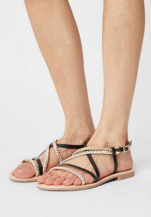 DETRIA - Sandals - noir