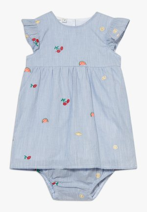NBFDENISE DRESS BLOOMER SET - Day dress - dazzling blue