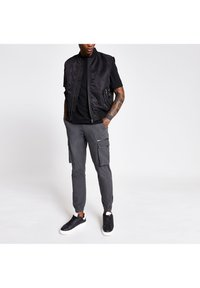 River Island - Cargo trousers - grey - 1