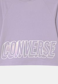 Converse - CROPPED GLOSSY RAGLAN HOODIE - Mikina - violet frost - 2