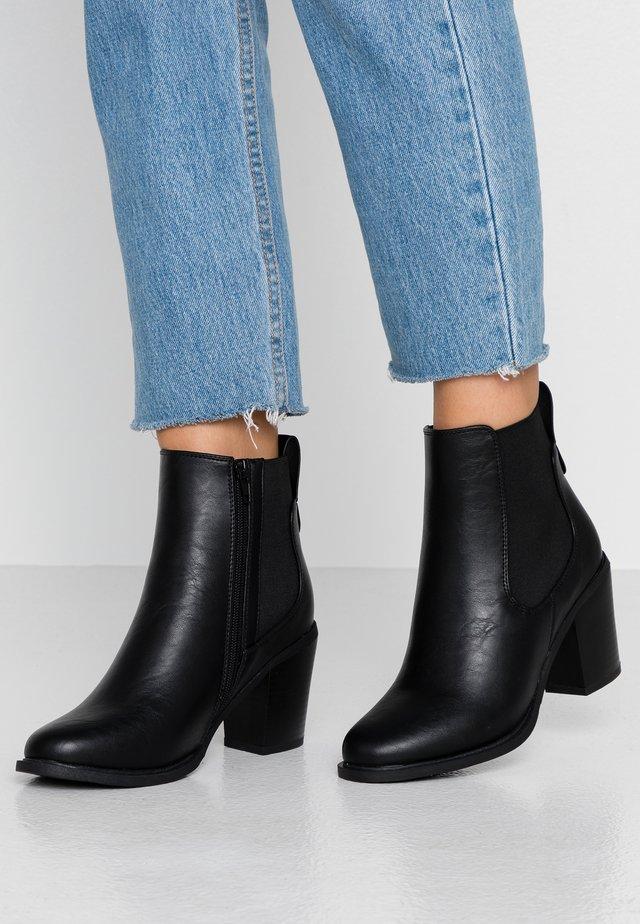 BELLA HEELED GUSSET  - Ankle boots - black