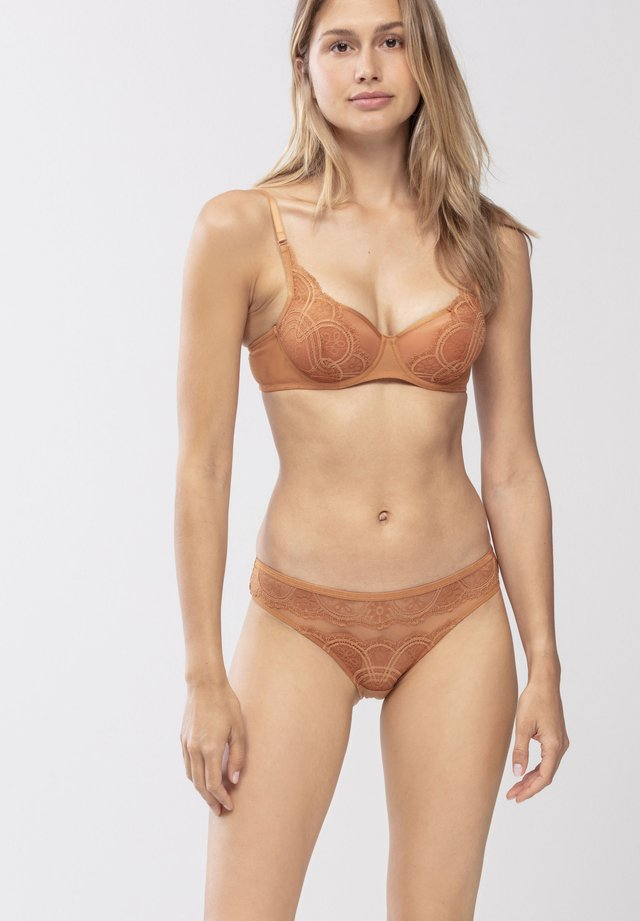 Underwired bra - bronze