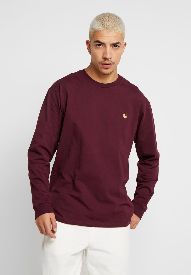 Carhartt WIP - CHASE - Long sleeved top - shiraz / gold