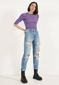 Bershka - Jeans Straight Leg - blue denim - 1