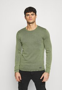 Only & Sons - ONSGARSON LIFE WASH CREW - Jumper - scarab - 0