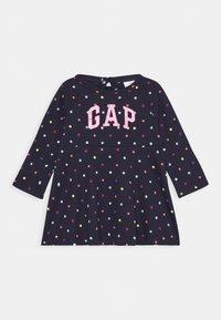 GAP - TODDLER GIRL SKATER DRESS - Žerzejové šaty - dark blue - 0