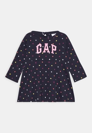 TODDLER GIRL SKATER DRESS - Žerzejové šaty - dark blue