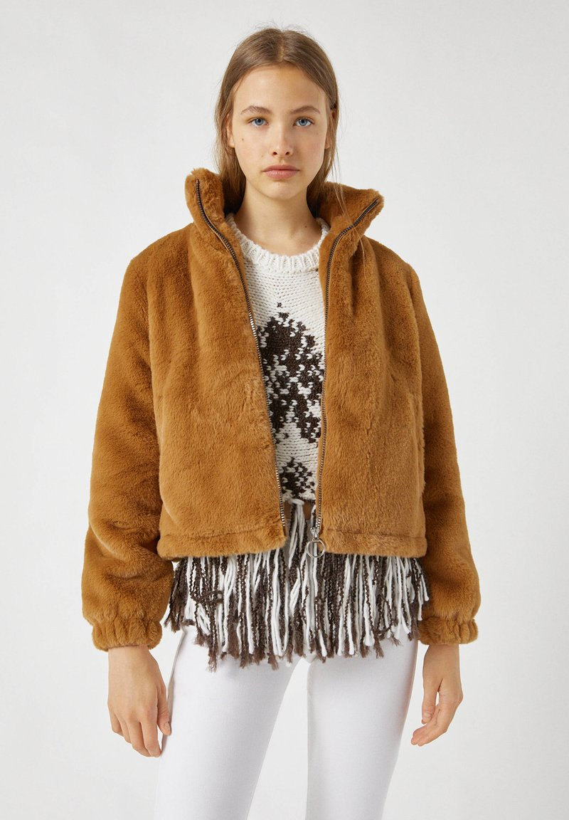 PULL&BEAR - Winter jacket - brown