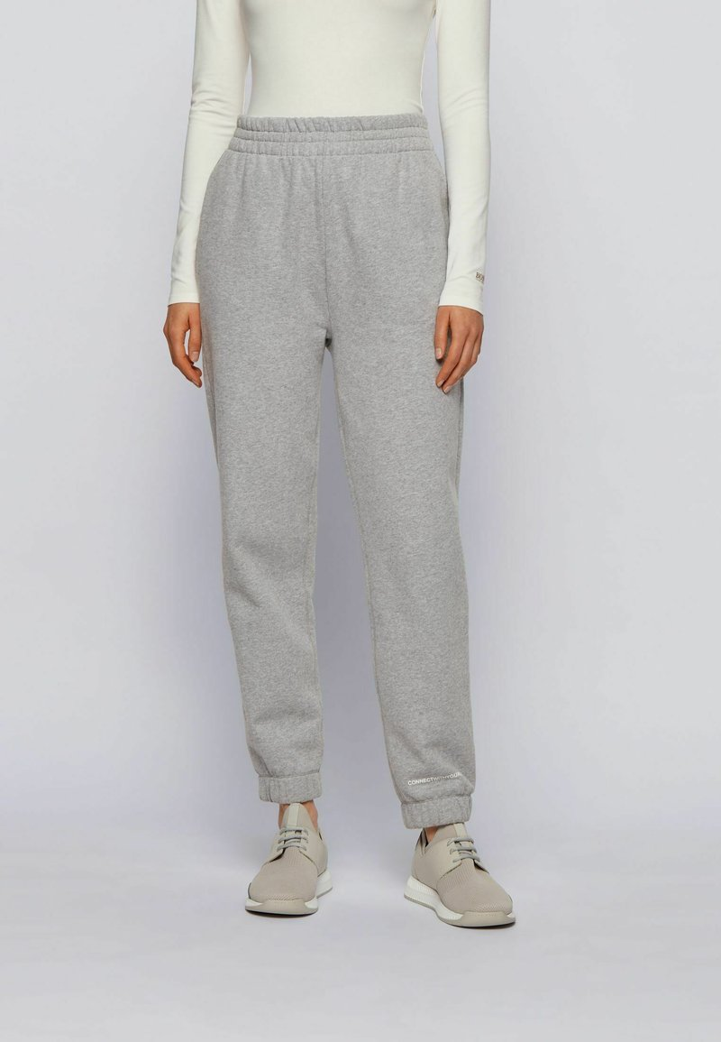 BOSS - Tracksuit bottoms - silver