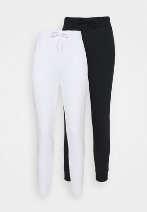 2 PACK - Trainingsbroek - white/black