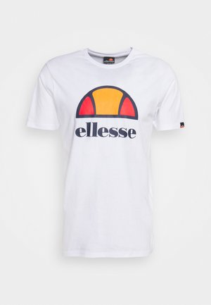 DYNE TEE - T-shirt z nadrukiem - white