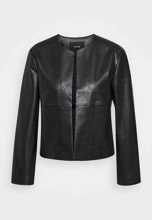 JASI - Faux leather jacket - black