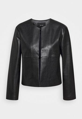 JASI - Faux leather jacket - black