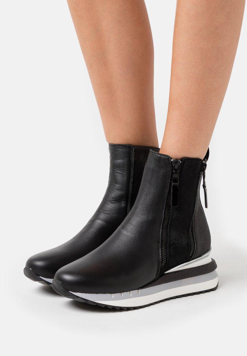 CAFèNOIR - Wedge Ankle Boots - nero