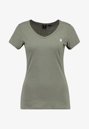 EYBEN SLIM - Basic T-shirt - dk shamrock