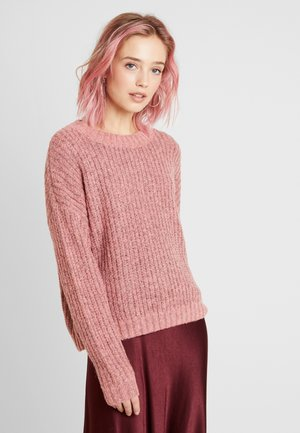 VMRUSH O-NECK - Jumper - tea rose/black melange