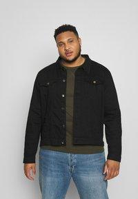 Another Influence - SLIM FIT JACKET - Denim jacket - black - 0