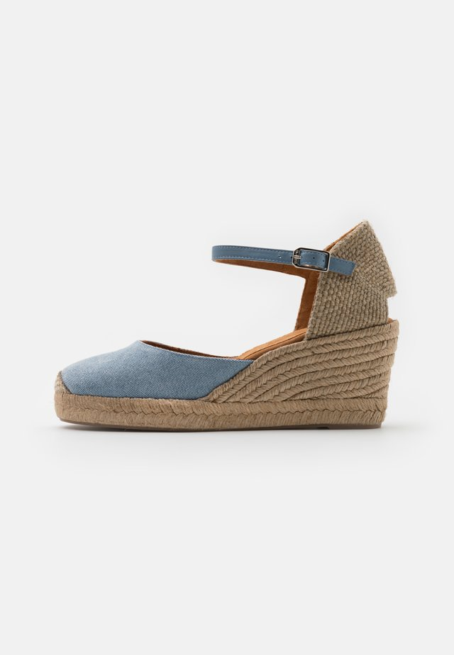 CACERES - Sandalen met plateauzool - light jeans