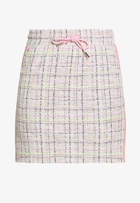 Rich & Royal - SKIRT WITH TAPES - Mini skirt - pearl white - 3