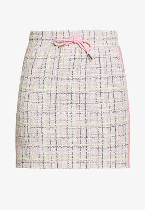 SKIRT WITH TAPES - Miniskjørt - pearl white