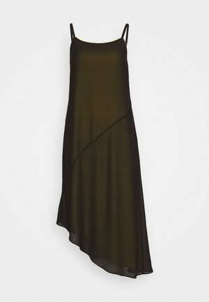 DOUBLE LAYER SLIP - Vestido informal - black beauty