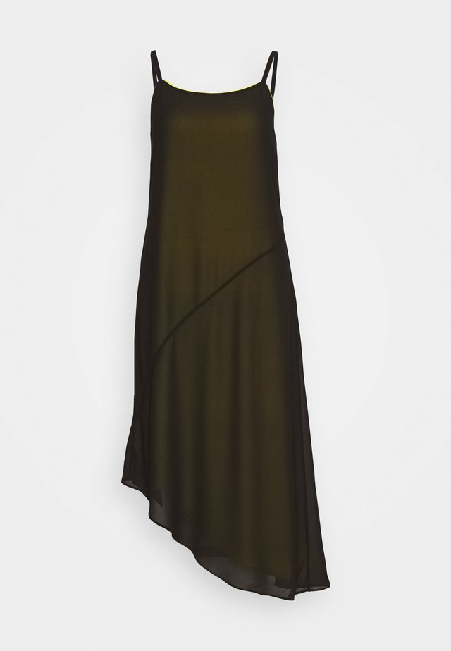 DOUBLE LAYER SLIP - Day dress - black beauty