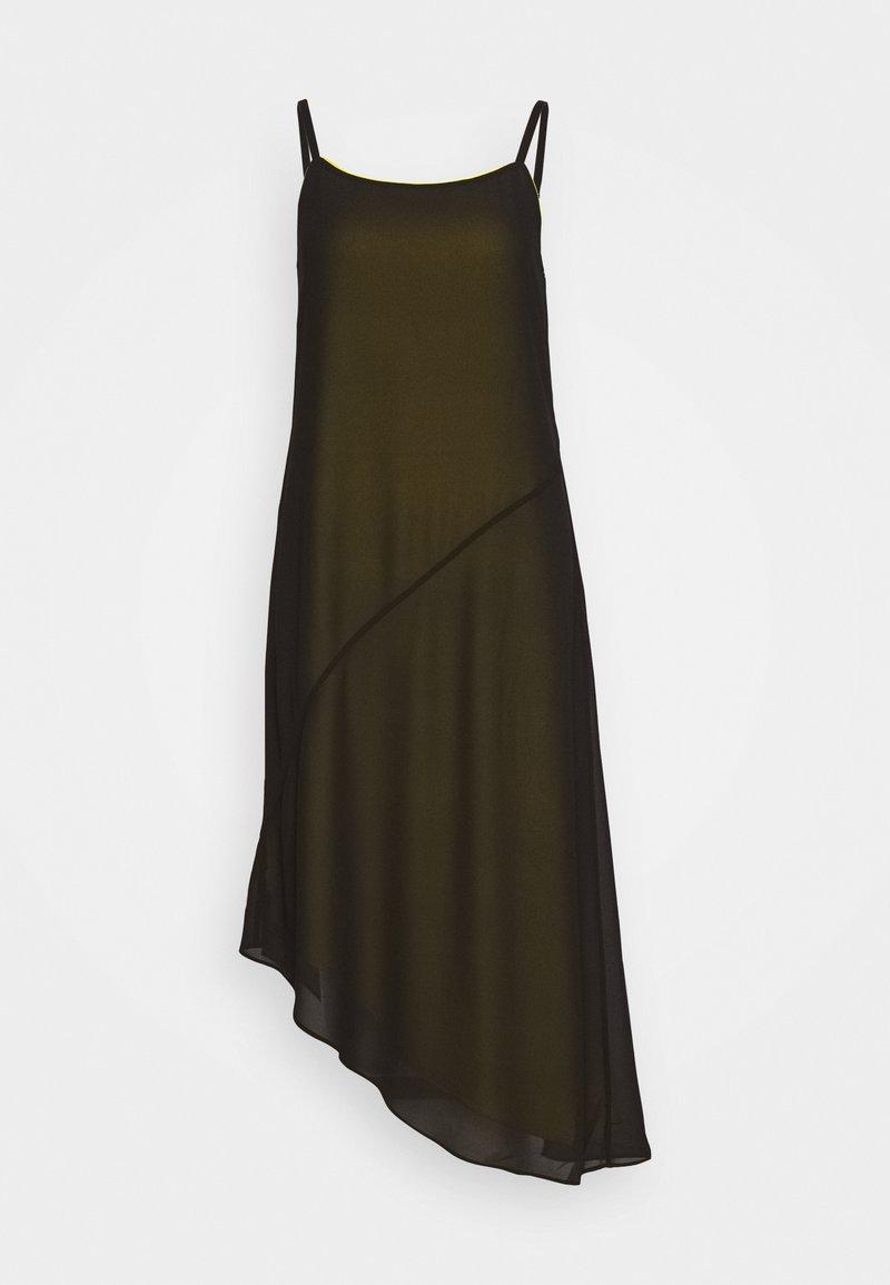Calvin Klein Jeans - DOUBLE LAYER SLIP - Kjole - black beauty