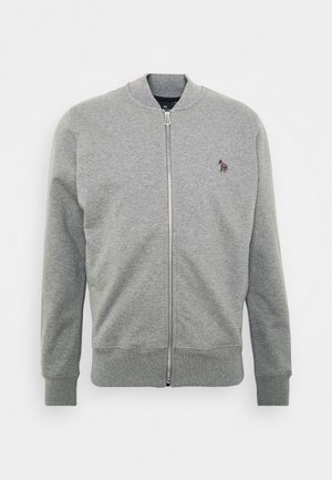 MENS ZIP - Zip-up hoodie - mottled grey