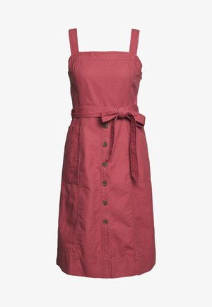 PANELED APRON DRESS - Farkkumekko - pink city