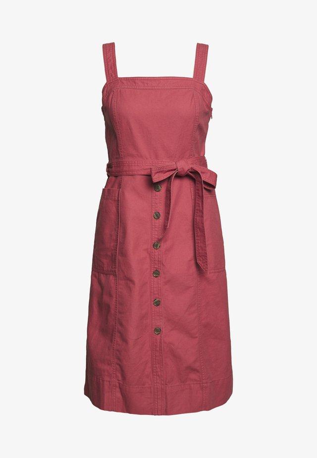 PANELED APRON DRESS - Denim dress - pink city