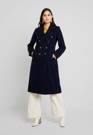 MELTON MILITARY MAXI COAT - Classic coat - navy