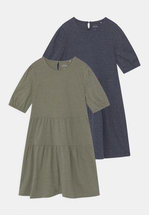 NKFVIVALDI 2 PACK - Jersey dress - dark sapphire