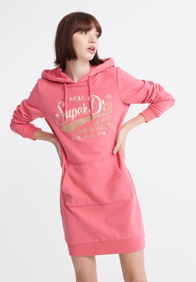Superdry - CORE GRAPHIC - Day dress -  pink