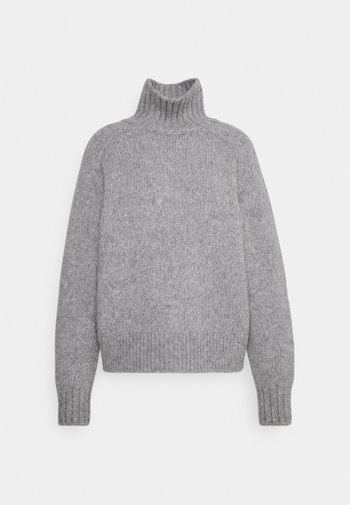 WOMEN - Strikkegenser - grey heather melange