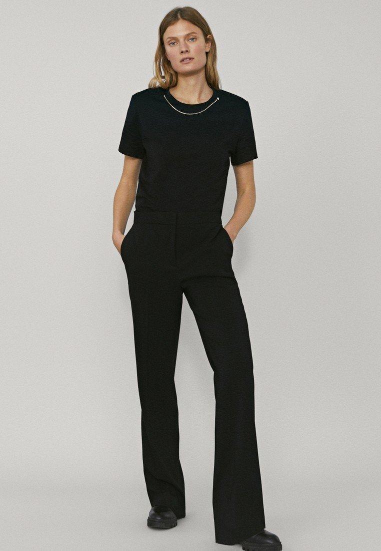 Massimo Dutti - MIT SCHLAG - Pantalon classique - black