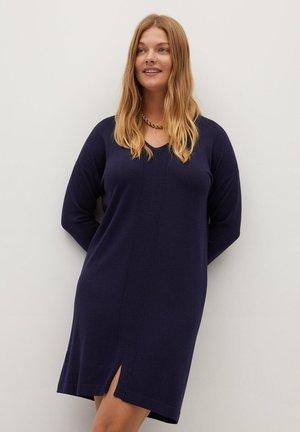 AGORA - Gebreide jurk - dunkles marineblau
