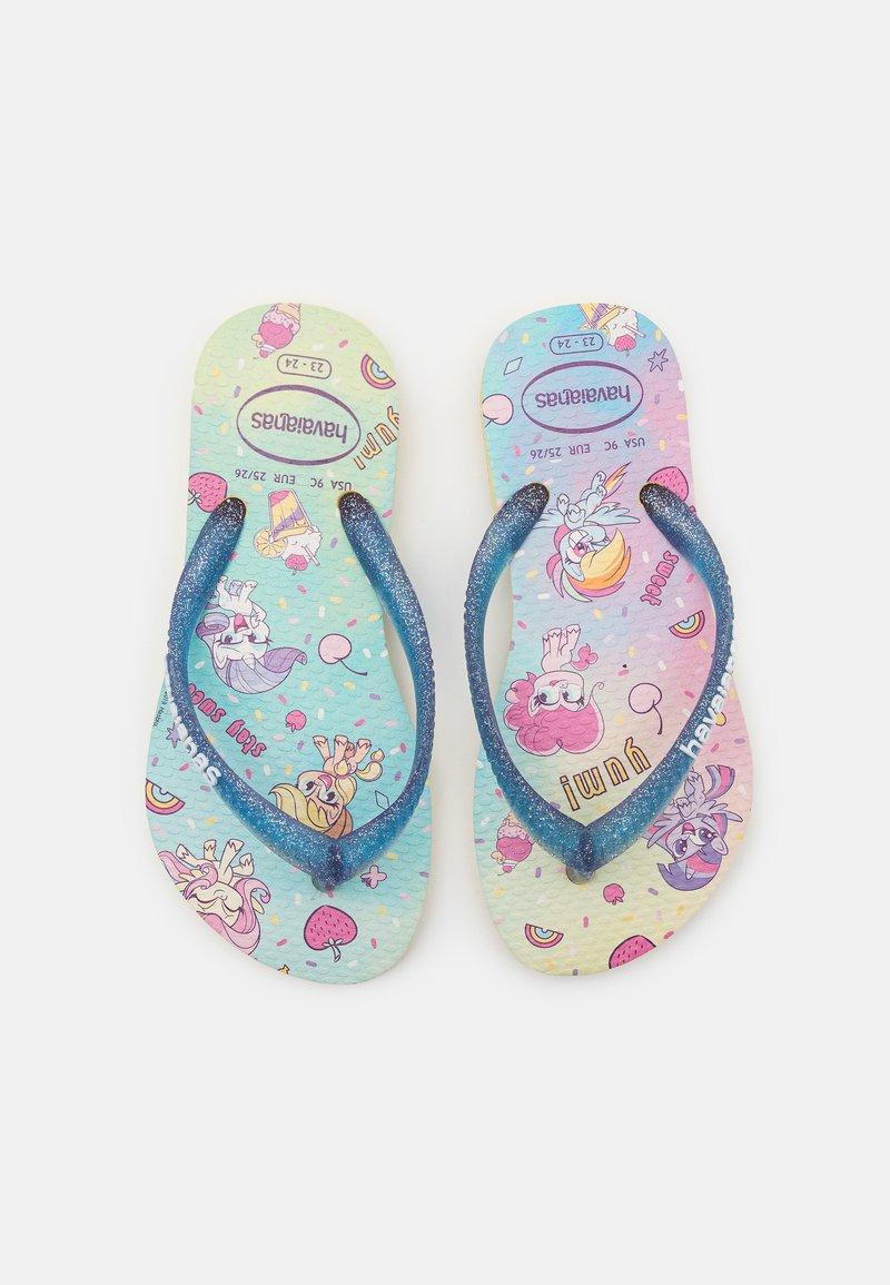 Havaianas - MY LITTLE PONY - T-bar sandals - lemon yellow