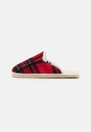CHALET CHAUSSON CHECK UNISEX - Slippers - rouge
