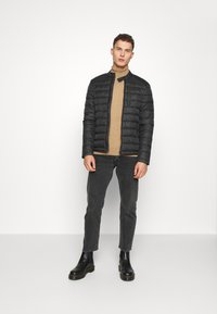 Superdry - COMMUTER QUILTED BIKER - Light jacket - black - 1