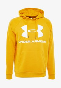 Under Armour - RIVAL SPORTSTYLE LOGO HOODIE - Hættetrøjer - golden yellow/white - 4