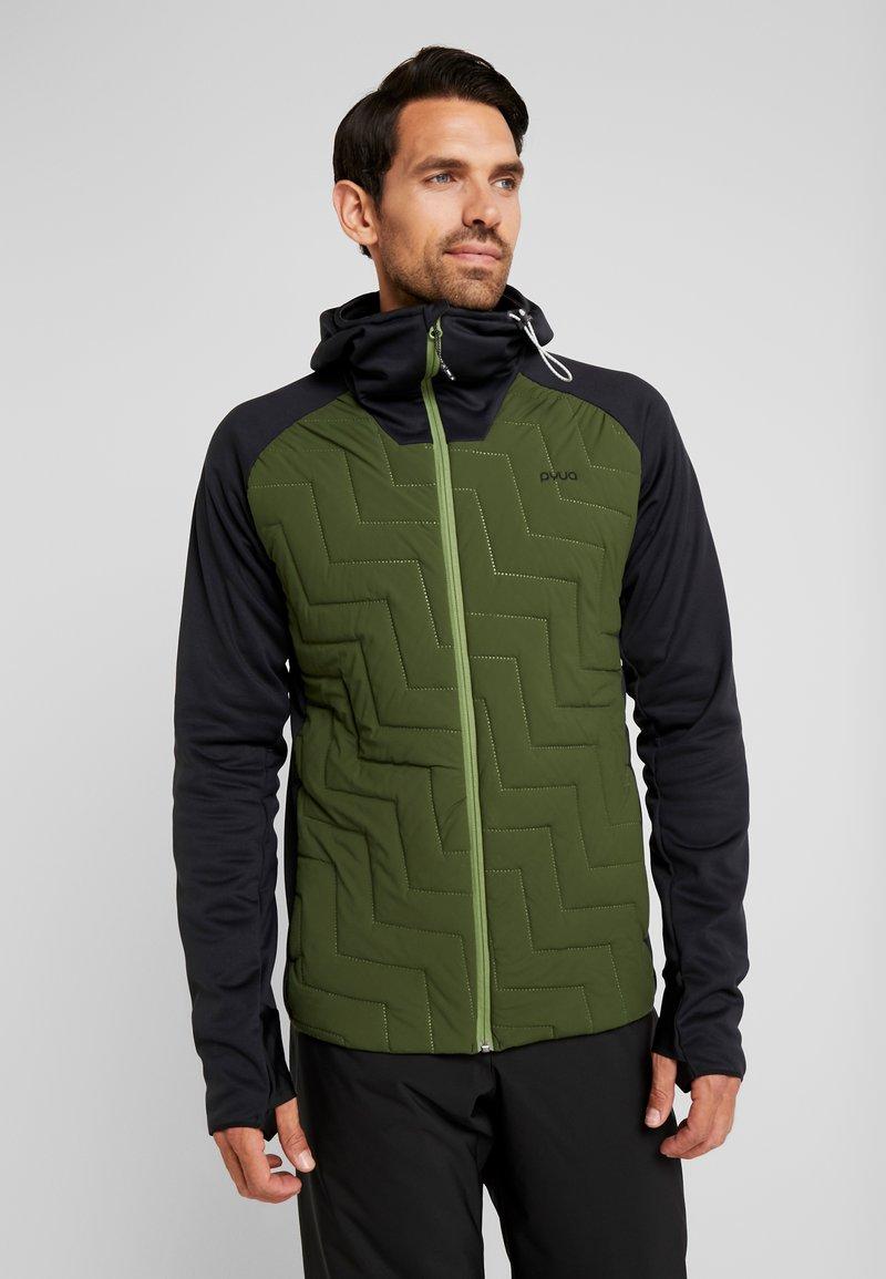 PYUA - SNUG - Giacca da snowboard - black/rifle green