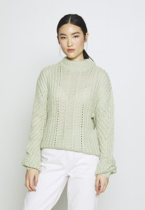 CHUNKY BALLOON SLEEVE JUMPER - Maglione - mint