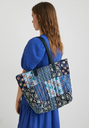 SHOPPING BAG PATCH - Tote bag - blue