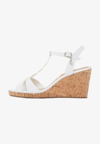 KOALA - Wedge sandals - white