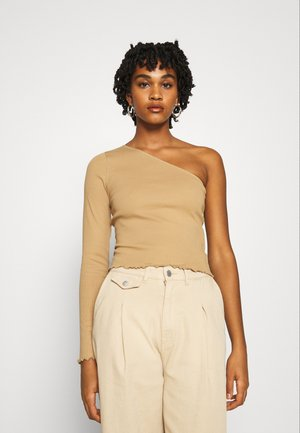 JANNI ONE SHOULDER  - Long sleeved top - tannin