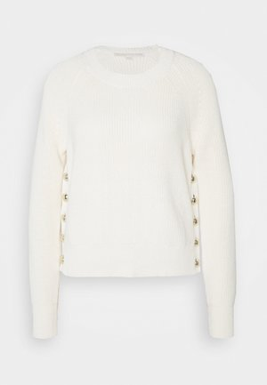 SIDE BUTTON - Sweter - bone