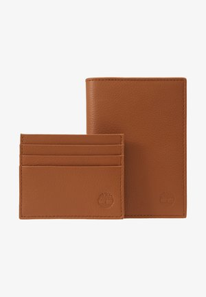CREDIT CARD AND PASSPORT COVER GIFT SET - Portefeuille - cognac