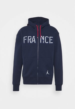 FRANCENCE FLIGHT - Mikina na zip - college navy/white